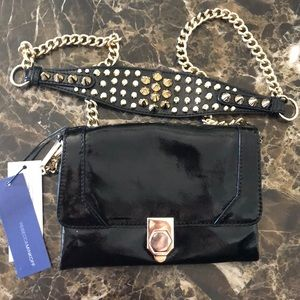 Jax studded patent leathr crossbody/minibag/clutch